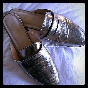 Size 7 pewter C Maladrino all leather slides